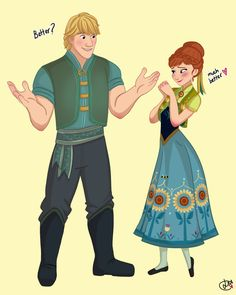 Cute fan-inspired look for Kristoff. We'll have to see if he gets a new look in Frozen Fever. From LISSA-42