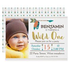 Boys Wild One Arrow 1st Birthday Invitation Invitations Retirement Party