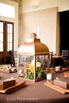 lantern centerpiece fall wedding