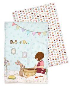 K�chent�cher 2er Set von Belle & Boo
