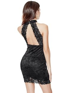 Noel Sleeveless Lace Dress | shop.GUESS.com Guess Clothing, Lace Dress, Dress Up, Dope Fashion, Stretch Dress, Scalloped Hem, Feminine, Classy, Formal Dresses