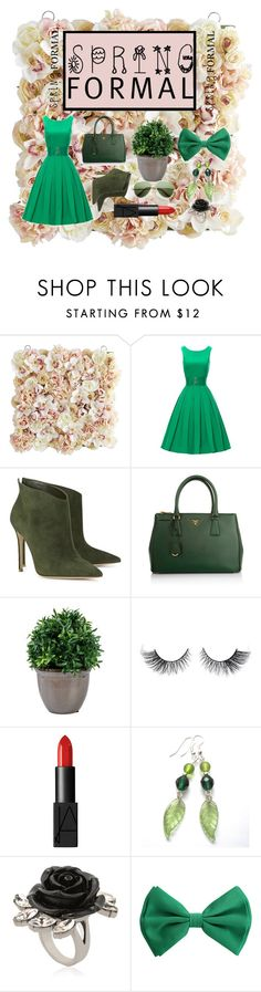 """Spring"" by lameen ❤ liked on Polyvore featuring Pier 1 Imports, Gianvito Rossi, Prada, NARS Cosmetics and Mawi"