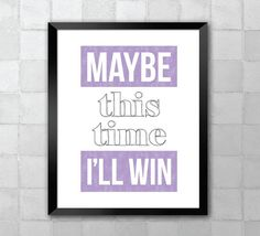 Cabaret  Maybe This Time  Song Lyric Quote 8x10 by LyricWall