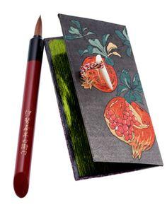 POMEGRANATE~Japanese portable lip tote, Beniita 紅板 during Edo period to Meiji period Japanese Culture, Japanese Art, Geisha Japan, Sitting Room Decor, Book Letters, Japanese Aesthetic, Vintage Makeup, Nihon, Autumn Inspiration