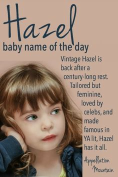 Hazel: Baby Name of the Day
