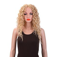 Merrylight Women Natural Curly Wavy Full Head Wigs Long Hair Cosplay Wigs FullCap Drawstring Hairpieces Mixed Medium Gold101  >>> Check out this great product.(This is an Amazon affiliate link and I receive a commission for the sales)