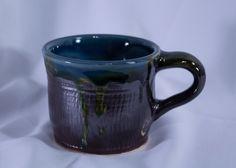 Pottery Mug, Ceramic Cup, Coffee Mug, Coffee Cup, Pottery Mug, Pottery Cups, Shades of Blue, Coffee, Tea, Cocoa Mug by DancingFlamesPottery on Etsy