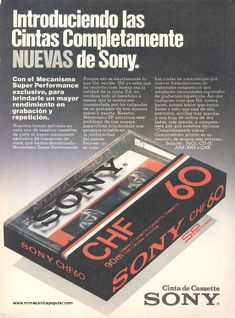 Publicidad - Cinta de Cassette Sony - Septiembre 1979