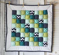 Honeybear Lane puff quilts- LaMer.  Love the colors/ patterns