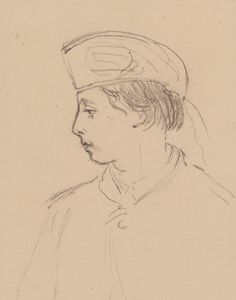 Prince Alfred, drawn by her mother Queen Victoria