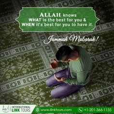 AlHaq Travel Provides A Holy Opportunity to Perform Hajj and Umrah at cheapest rates from London including 5 star hotels and convenient flights. Get the best 2020 deals for Hajj and Umrah for families from United Kingdom. Jummah Mubarak Messages, Jumma Mubarak Quotes, Jummah Prayer, Best Quran Quotes, Happy Birthday Wishes Images, Friday Motivation, Friday Feeling, Dear God, Islamic Quotes