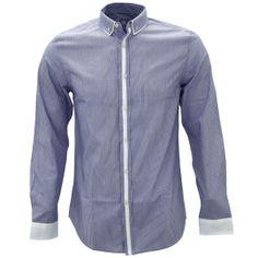 Shirtacy Double Collar Blue Stripe Shirt by Shirtacy HKD$249 #formalshirts #businessattire #workshirt #mensfashion #menswear #hk #hongkong #onlinestore #onlineshopping #hkshop #stylish #collar #doublecollar #stripe #shirtacy