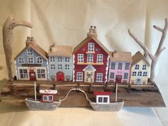 Driftwood harbour scene made February 2015