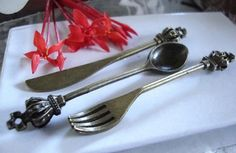 Tableware Bronze Charms,Knife,fork,spoon, metal charms,charming charms