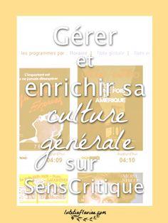 Gérer et enrichir sa culture générale sur SensCritique