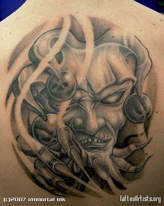 Jester Evil Joker Drawings   evil jester - Tattoo Artists.org Joker Drawings, Tattoo Drawings, Love Tattoos, Body Art Tattoos, Calf Tattoos, Evil Clown Tattoos, Religious Tattoo Sleeves, Jester Tattoo, Cloud Tattoo Design