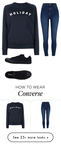 """Sin título #1"" by danielle200424 on Polyvore featuring Holiday, River Island and Converse"