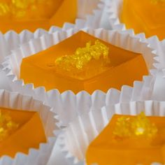 Jelly Shot Test Kitchen: Orange Meringue Jelly Shots ~T~ Made with orangecello liqueur, citrus flavored vodka and cointreau.