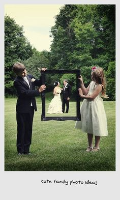 Cool idea....maybe instead of the kids have the best man and maid of honor
