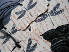 4 Hand Stamped 'Dragonfly' Tags on Cream by PaperPastiche on Etsy, $3.50