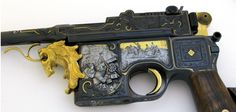 "German Custom Mauser C96 ""Broomhandle"" Pistol cal. 9mm Engraved & Sculpted  Produced - 1896"