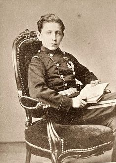 HIH Napoleon Eugene Louis, The Prince Imperial, 1870.  Son of Emperor Napoleon III and Empress Eugenie, the blood of the Bonapartes and the Beauharnais ran in his veins--He was the grandson of Napoleon I's brother Louis, King of Holland and the great grandson of Empress Josephine via her daughter Hortense, Louis' wife.