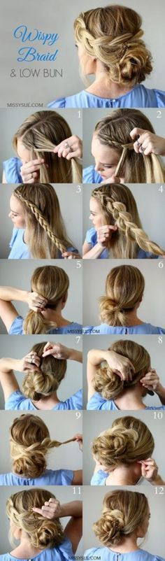 25 Step By Step Tutorial For Beautiful Hair Updos – Page 4 of 5 – Trend To Wear Image source DIY curly bridal updo wedidng hairstyle Image source Work Hair Tutorial Wedding Hairstyles Tutorial, Hairstyle Tutorials, Hairstyle Ideas, Bun Tutorials, Hairstyles For Medium Length Hair Tutorial, Makeup Hairstyle, Hair Makeup, Makeup Tutorials, Medium Length Hair Updos