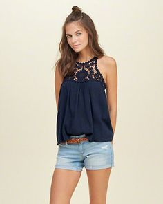 Lace Panel Easy Cami
