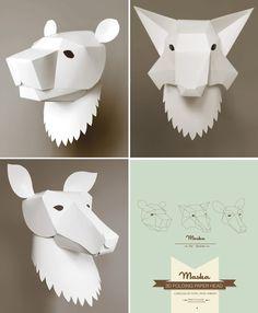 #paper #white #animals by isadora