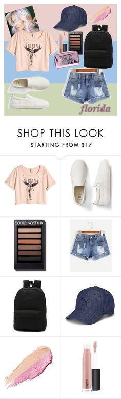 """""""Untitled #90"""" by floridanuha ❤ liked on Polyvore featuring H&M, Gap, Vans, Puma, By Terry and MAC Cosmetics"""