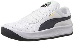 PUMA Men's GV Special Lace-Up Fashion Sneaker, White/New Navy, M US: A cushy, wavy sole serves as a comfortable foundation for this timeless sneaker style. Pumas Shoes, Shoes Sneakers, Football Casuals, Tennis Shoes Outfit, Puma Mens, Sports Shoes, Sneakers Fashion, Trainers, Running Shoes