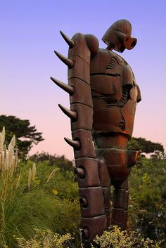 """Japan  Ghibli Museum Mitaka :: Lonely Robot :: 三鷹の森ジブリ美術館  Another handheld shot taken at dusk while visitng 'Laputa"""" or """"Castle in the Sky"""" this museum is pack with visitors from young to old like me...so crowded n is almost impossible to shot freely  Japan is just a GREAT and LOVELY place to shop, visit, and the girls. But money is always the problem. click the picture and find out how to solve it."""