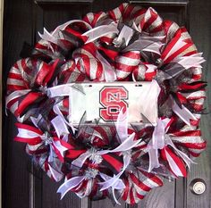 NC State Wreath- given as a gift to the greatest vet - Dr. Wendy Callahan from Morganton Animal Hospital in Morganton NC. 60.00