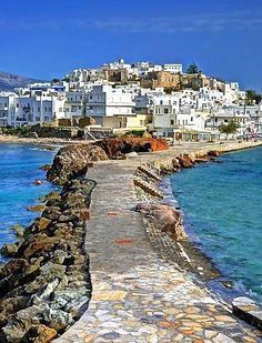 Naxos town in Greece. Apparently loads to do on this island with boat trips to Mykonos and Santorini :) Places Around The World, Oh The Places You'll Go, Places To Travel, Travel Destinations, Places To Visit, Mykonos, Santorini, Dream Vacations, Vacation Spots