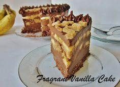 Raw Banana Mocha Caramel Mousse Cake
