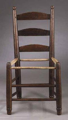 Beautiful Louisiana Slat Back Side Chair. Probably Mulberry. Early 19th Century.