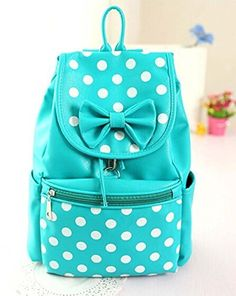 Fasion PU Shoulders Bag Backpack Bow Dot Student Bagpack for Women PU (Skyblue), http://www.amazon.com/dp/B00R72OK28/ref=cm_sw_r_pi_awdm_WVeOwb046BMZE