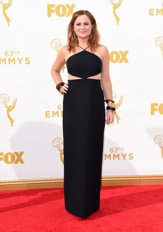 The Best Accessories at The Emmy Awards 2015 - Amy Poehler in Neil Lane jewels, Edie Parker clutch, Brian Atwood shoes, and Michael Kors dress