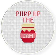 SALE Easy Stitch Pump Up the Jam PDF Cross by DailyCrossStitch