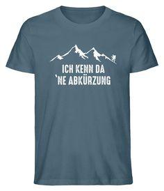⚠ Achtung - nur für Bergmenschen ⛰ Einzigartige Motive bedruckt auf Bio-Baumwolle 🌱 Shirt Print Design, Shirt Designs, Women's Sports Swimwear, Fitness Wear Women, Business Outfits, Sport T Shirt, Printed Shirts, Fit Women, Funny Quotes