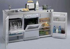 Mini kitchen unit - for a tiny house Mini Kitchen, Kitchen Units, Kitchen Ideas, Kitchen Small, Kitchen Designs, Kitchen Shelves, Kitchen Storage, Kitchen Cabinets, Kombi Home