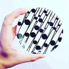 Coaster black and white pattern from Kristin Erseus design