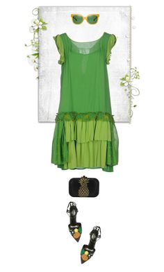 """""""Green"""" by lence-59 ❤ liked on Polyvore featuring Twin-Set, Dolce&Gabbana, Judith Leiber and Tory Burch"""