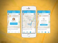 Favor IOS 7 Mobile App by Brandon Termini for Handsome
