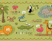 Kids Jungle Friends in Spanish Placemat
