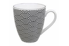 Mug noir et blanc motif vague japonais, Tokyo Design Studio, www.oranjade.com