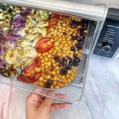 Air Fry at 400 degrees for 25 minutes to bring the ultimate Mediterranean dinner from your fridge to your table. | from @recipes4health on IG Oven Recipes, Air Fryer Recipes, Grill Rack, Sheet Pan, Ninja, Fries, Grilling, Meals, Dinner