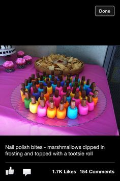 Nail polish bites! Soo cute! Would be really cute for girly party
