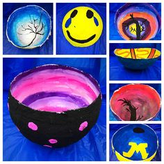 Paper Mache bowls by Middle School