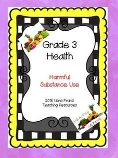 This resource meets the needs for the Saskatchewan Grade 3 Health curriculum outcome USC3.3: Determine how the misuse of helpful and use of harmful substances (including tobacco) affect the health of self and others.There are four lesson plans included for all the indicators along with suggestions for activities and questions for students to answer.Other Grade 3 Health resources available are:Grade 3 Health I Can Statement PostersHealthy Eating and Physical ActivityInner SelfFollow my store…